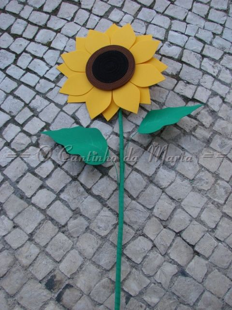 O Cantinho da Marta: Girassol EVA - Equinócio da Primavera