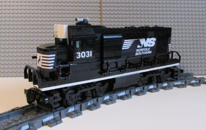 Custom Lego Train Southern Pacific GP40