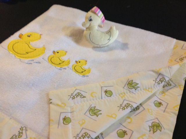 Little Duck Applique Blanket and toy