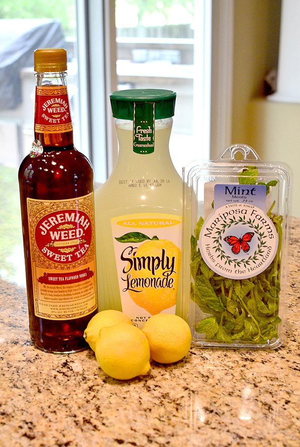 Sweet Tea Vodka Lemonade Mojitos are the ultimate in refreshing summer cocktails. Make ahead to sip at a moment's notice! | iowagirleats.com
