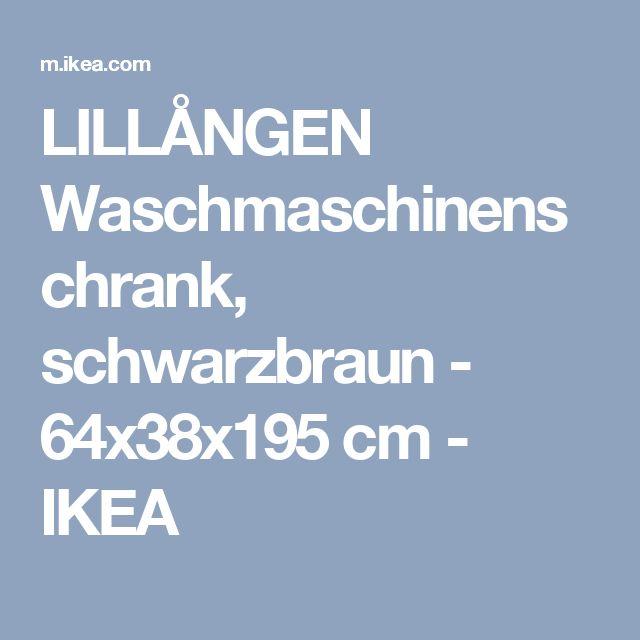 LILLÅNGEN Waschmaschinenschrank, schwarzbraun - 64x38x195 cm - IKEA