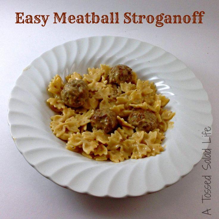 Easy Meatball Stroganoff