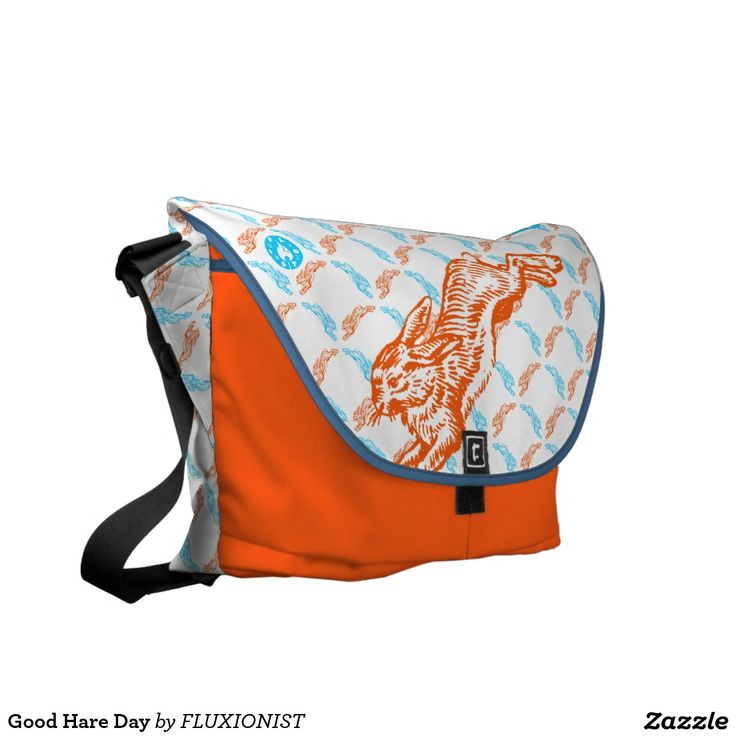 follow the orange rabbit Good Hare Day Messenger Bag - $130.00 Made by Rickshaw Bagworks / Design: Fluxionist