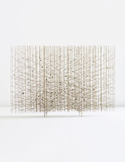 "PHILLIPS : NY050313, HARRY BERTOIA, ""Golden Rods"" melt-coated wire sculpture"
