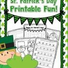 Includes five fun St. Patrick's Day themed printables for young learners! FREE