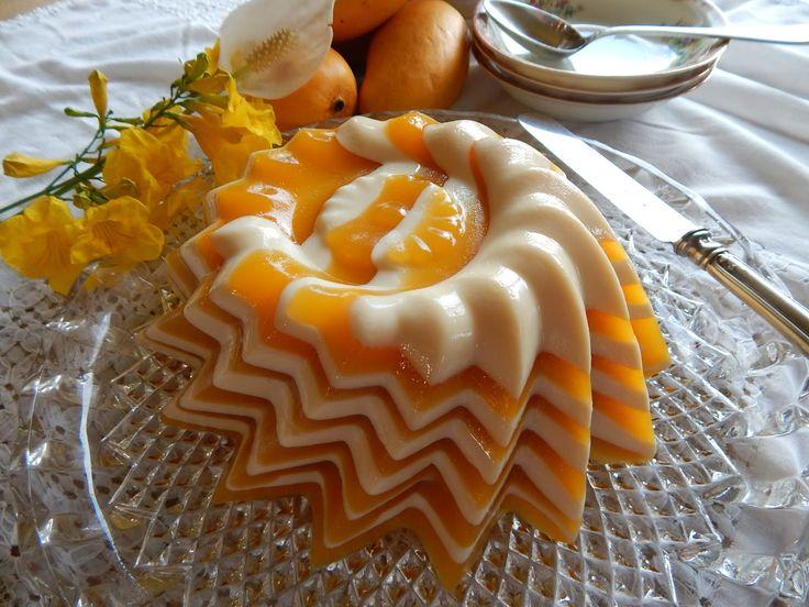 Gelatina de Mango. Gelatina de Mango y Leche