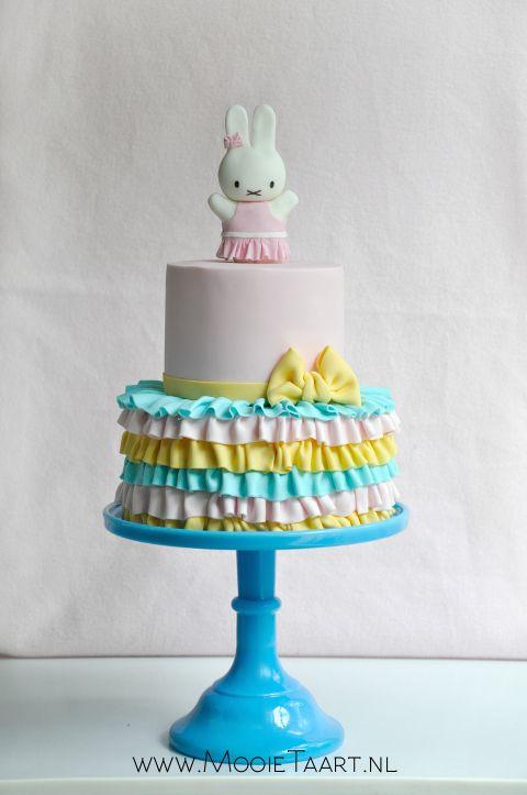 - Pastel Miffy ballerina cake. By Willemke Bulder, www.mooietaart.nl