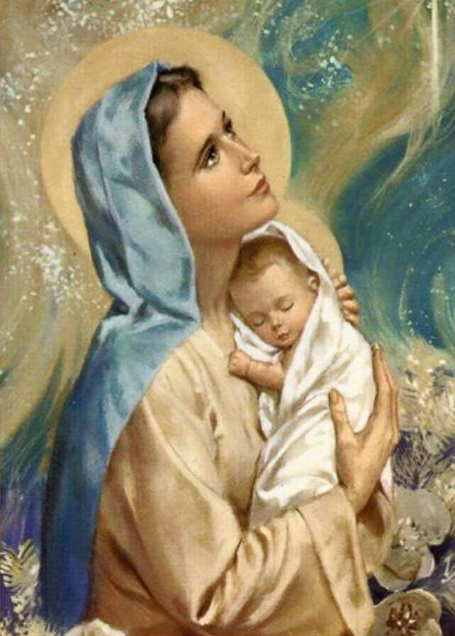 Image result for images of our lady and baby jesus painting