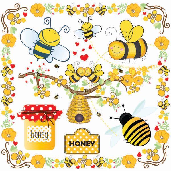 Bees Clip Art Bumble Bee Beehive Buzzy Honey