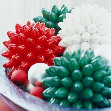 cycled Christmas Light Decorative Balls. Supplies: Burnt out Christmas ...
