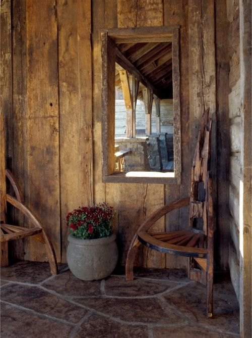 Interesting spin on rustic chairs
