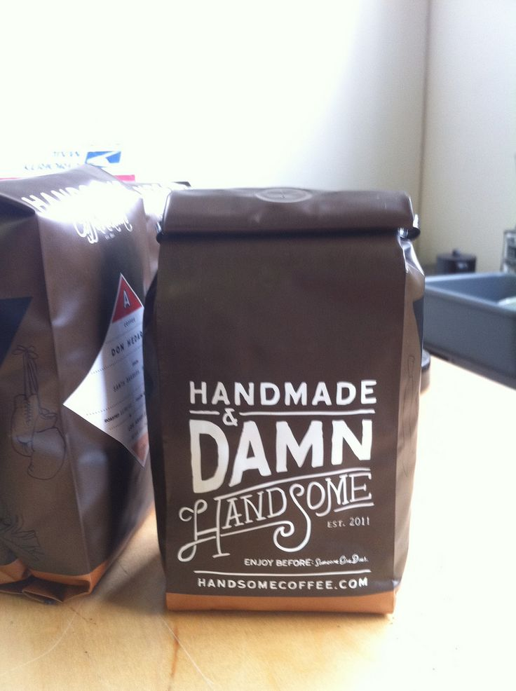 handsome indeed. Lovely packaging: Coff Bags Design, Nice Types, Packaging Design, Coffee Packaging, Damn Handsome, Ads Design Branding Packaging, Packaging Typography, Typography Inspiration, Coff Graphics Design