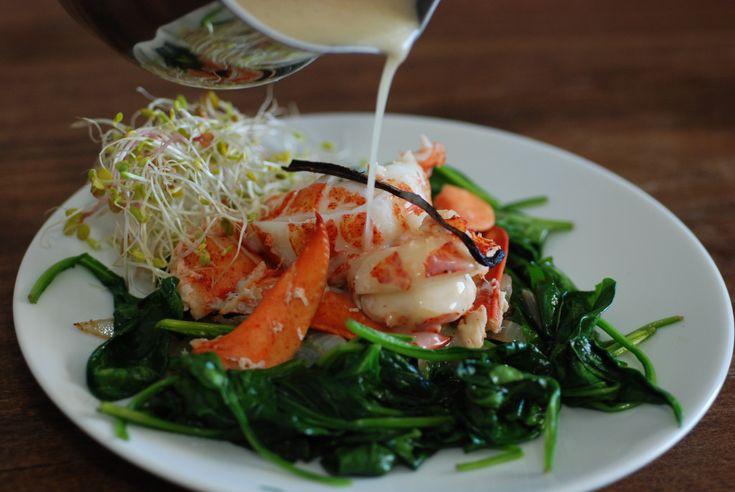 Comoros lobster with vanilla sauce