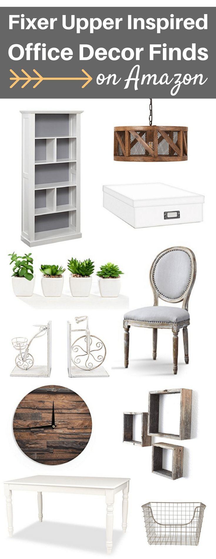 A Brick Home: Office decor ideas, fixer upper style, home office, rustic office decorating ideas