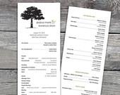 Meadow Wedding Ceremony Programs. Option to Print.. $45.00, via Etsy.