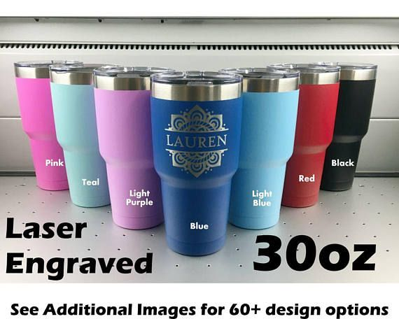 Personalized Purple Stainless Vacuum Insulated Tumblers Custom Travel Mugs Gifts