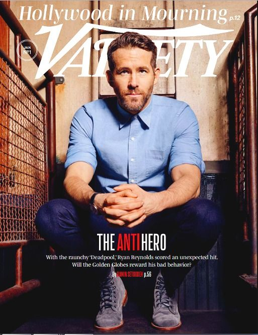 VARIETY Magazine January 3, 2017 RYAN REYNOLDS, Deadpool, Jacob Latimore, Globes