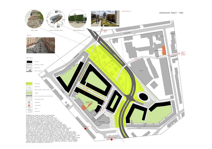 Prerov city, Czech Republic, prize in competition of urban design for revitalization of the territory near the railway station