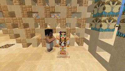Orphea2012 Youtube et Minecraft: Minecraft | 1er PNJ dans mon temple sur ma map Ram...