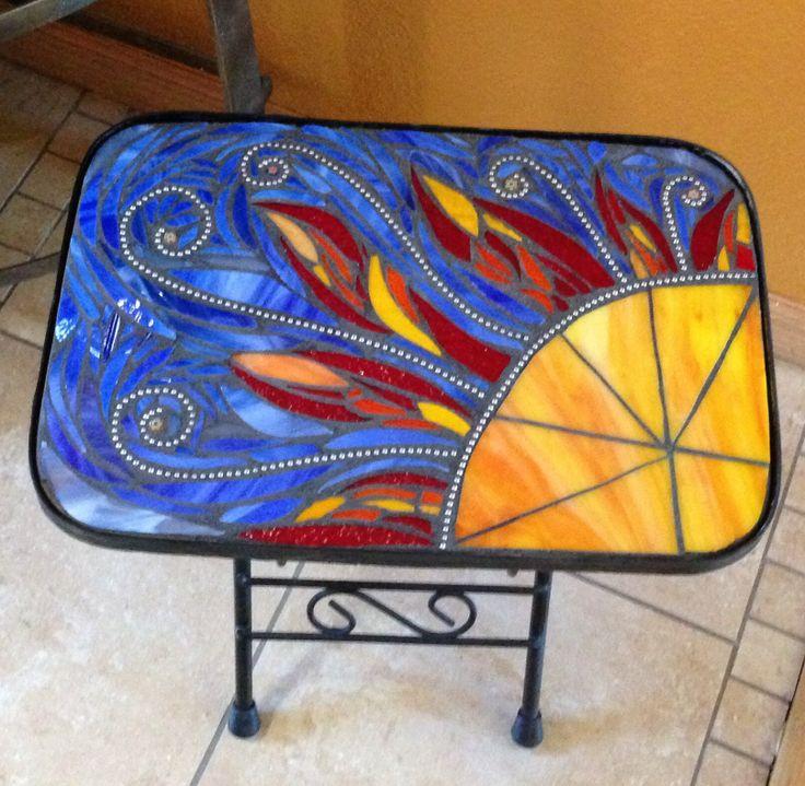 Sun Mosaic   Patio Side Table