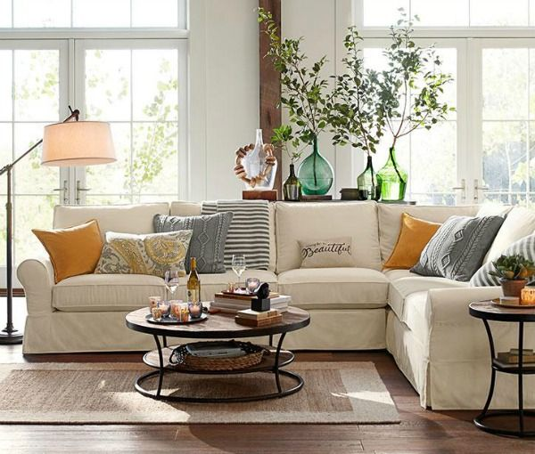 Decorating Your Living Room Must Have Tips Beige CouchCouch TableSlipcoversConsole