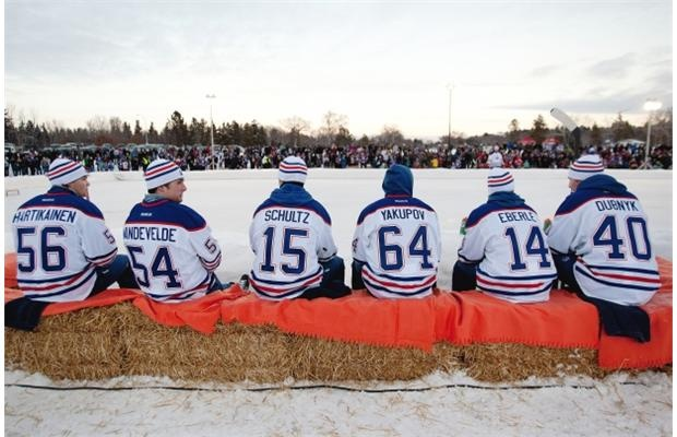 Oilers scrimmage in Hawrelak Park Sunday afternoon
