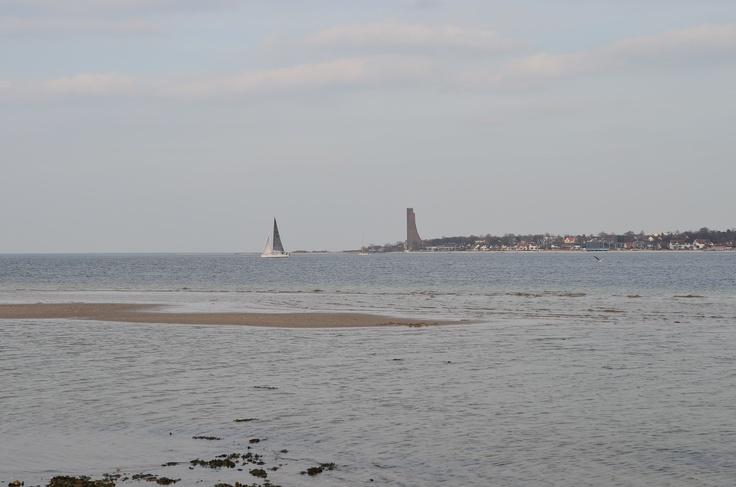 Laboe mit Segelschiff