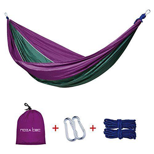 From 10.49 Double Parachute Hammock Noza Tec Portable Parachute Nylon Fabric For Travel Camping Outdoor Garden Beach Travel (purple/olive)