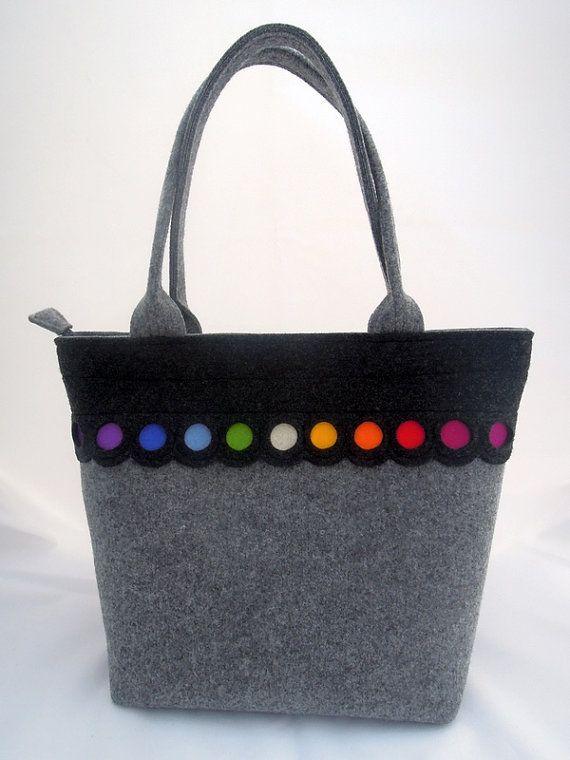 Colorful lovely handmade fashionable Big Size Felt by GreenSheepPL