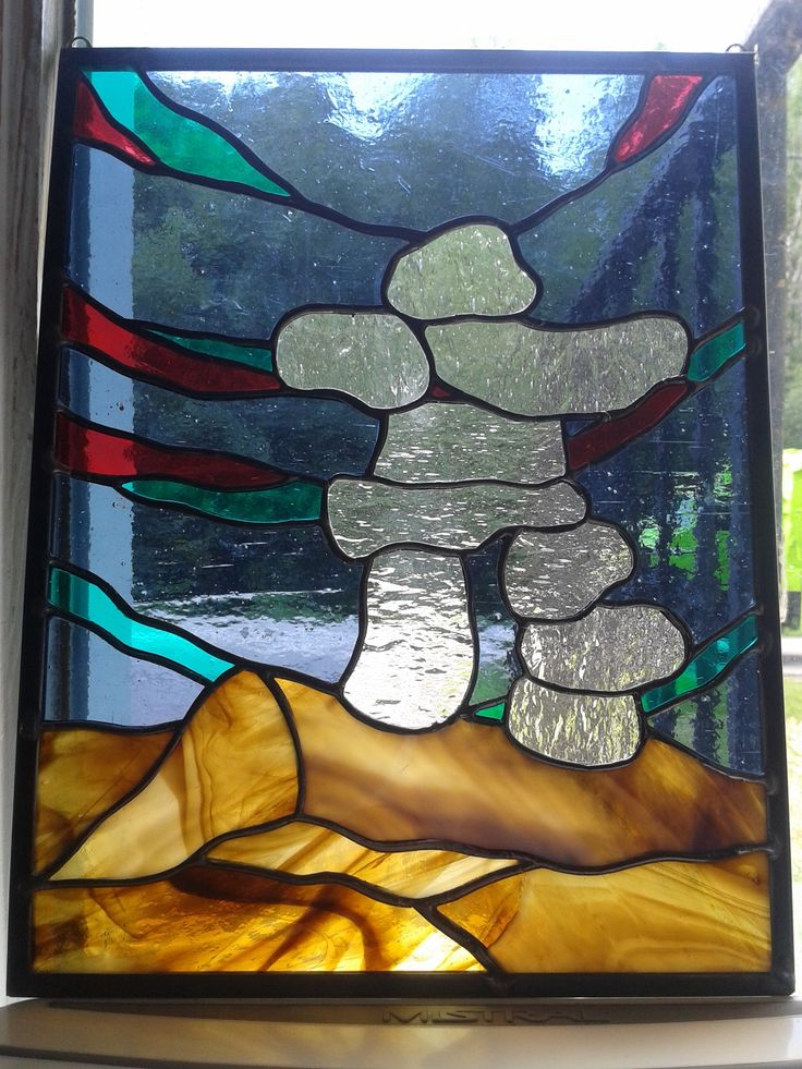 Inukshuk Stained Glass
