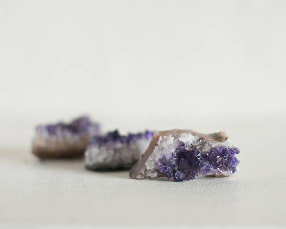 Amethyst Raw Clusters  Set of 3  Amethyst Quartz Cluster