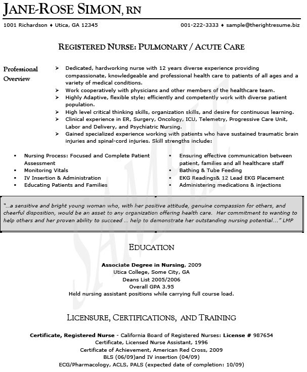 oncology nurse resume templates httpwwwresumecareerinfooncology - Nursing Resumes Templates
