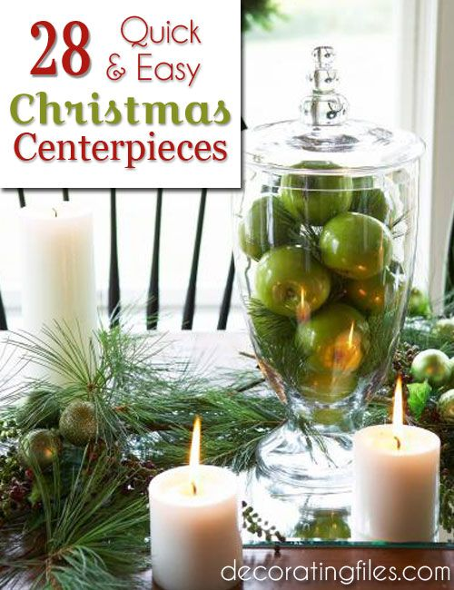 Quick easy christmas centerpiece ideas decorating