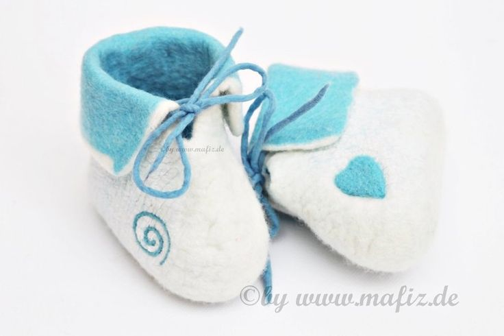 Felt Baby Shoes, Shoes, slippers, ... from Mafiz, my shop is there for you by DaWanda.com