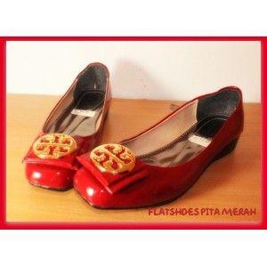 flatshoes Pita Merah