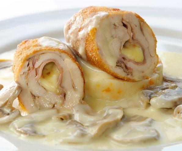 Cordon bleu de pollo en salsa blanca recetas pinterest - Pechugas de pollo al horno ...