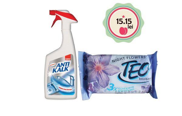 La cumpararea unui flacon de detergent anticalcar Sano la pretul de 13,95lei, primesti un sapun solid la doar 1,2 lei/bucata! Discount de 40% de la pretul de lista!