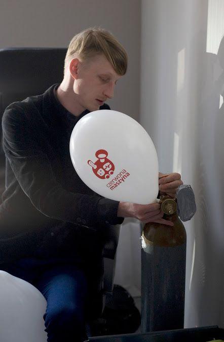 Balony dmucha Błażej - nasz artystyczny impresario :)