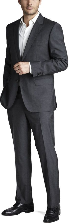 Boss Hugo Boss Basic Two-Button Suit, Charcoal