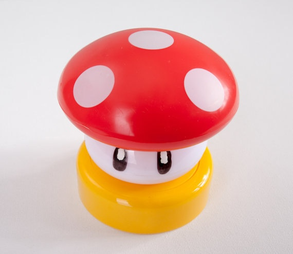 Just got these for the boys game room super mario bros mushroom touch light by