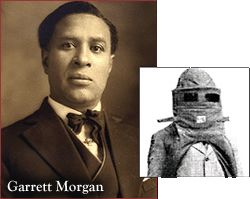 Garrett T. Morgan, Inventor of the gas mask, rescued six people from a gas-filled tunnel in Cleveland, Ohio (July, 25,1916)