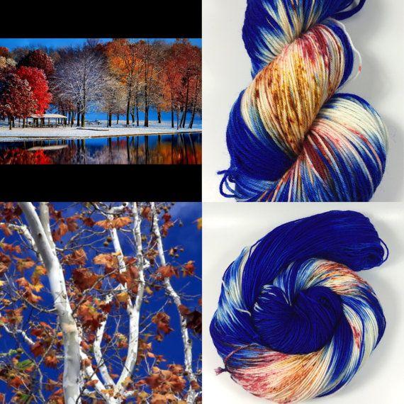 Colorway Of The Month, November Snow, Simple Sock, Sock Yarn, Hand Dyed Yarn, Superwash Merino,Nylon, Fingering Yarn,