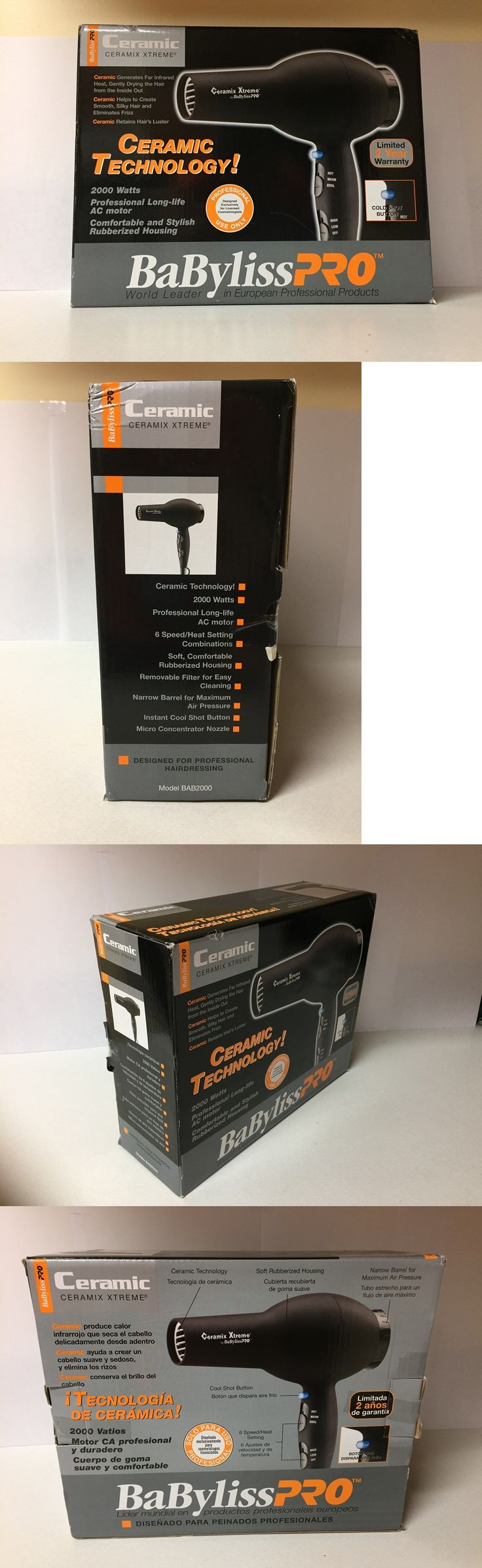 Hair Dryers: New Babyliss Pro 2000 Watt Ceramix Xtreme Turbo Ceramic Hair Blow Dryer BUY IT NOW ONLY: $42.0