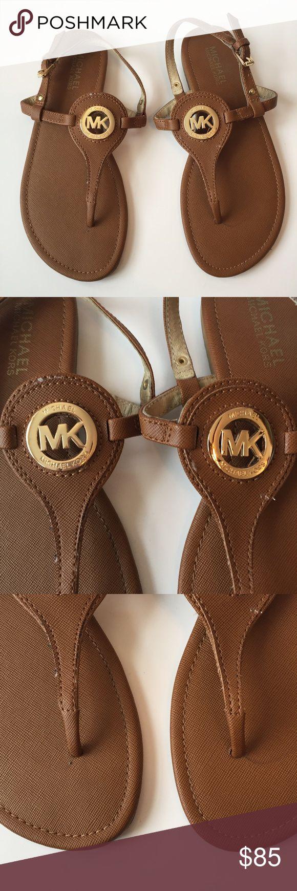 Black mk sandals -  Michael Kors Tan Sandals