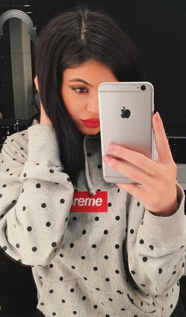 Kylie Jenner wearing Comme Des Garcons Comme Des Garcons