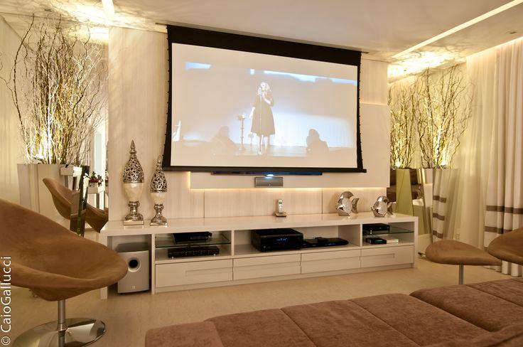 home theater design tijolinho - Pesquisa Google