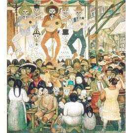 Shop for ''Dia de Muertos, 1924'' by Diego Rivera Museum Art Print (32.25 x 23.75 in.). Get free delivery at Overstock.com - Your Online Art Gallery Store! Get 5% in rewards with Club O! - 19014717