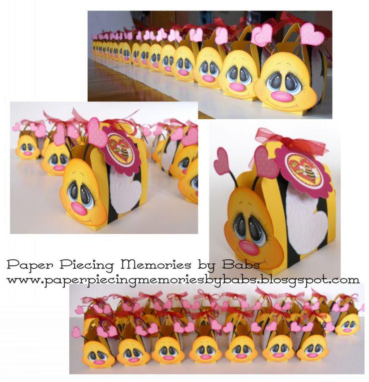 Bee Valentine Treat Boxes