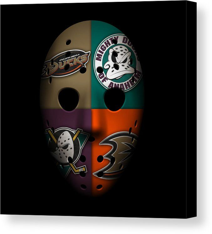 Ducks Canvas Print featuring the photograph Anaheim Ducks by Joe Hamilton