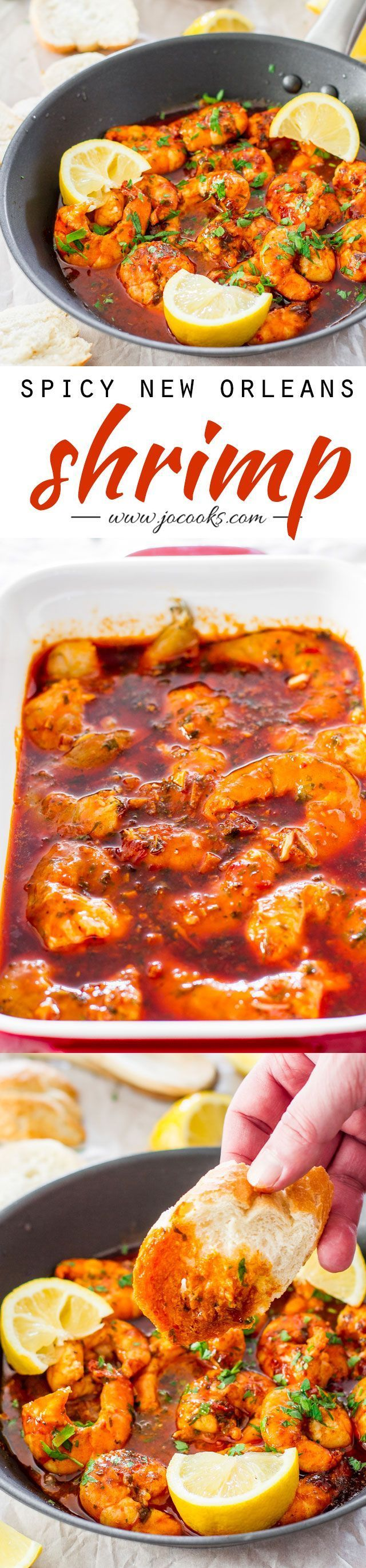 Spicy New Orleans Shrimp | These shrimp are hot, spicy, decadent, bold and super delicious, just the thing to satisfy your cravings!. Serves: 2